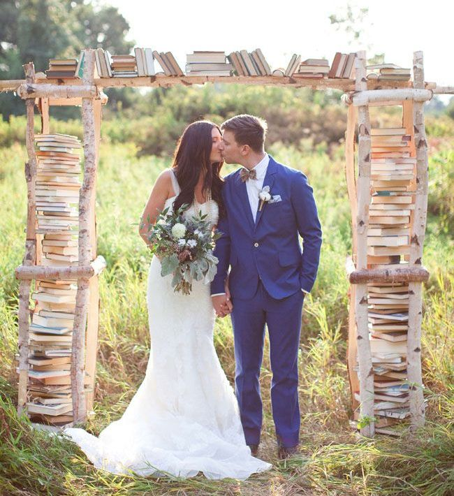 wedding book arch