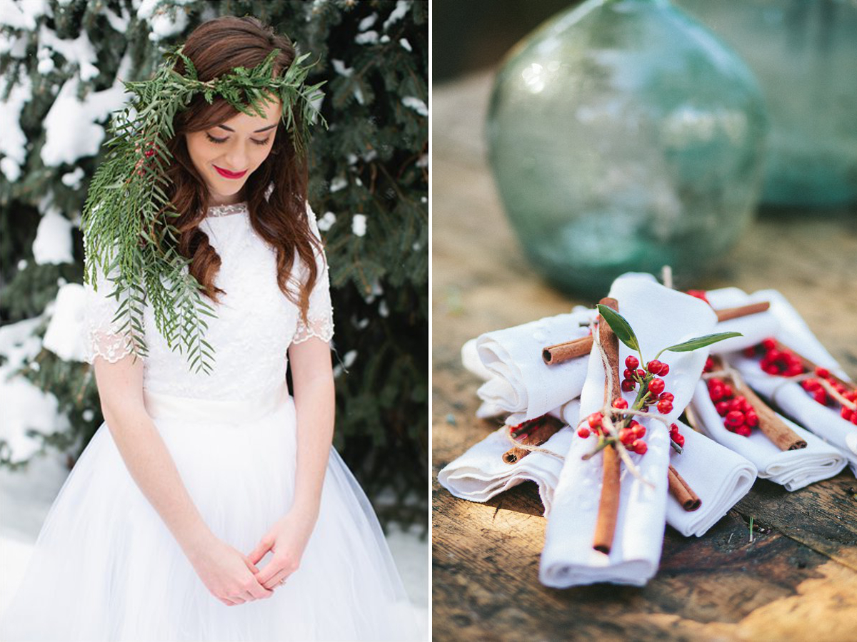 Christmas, wedding, them, style, season, festive, bride, inspiration, how to