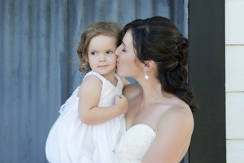 Wedding, Mother, Flower girl